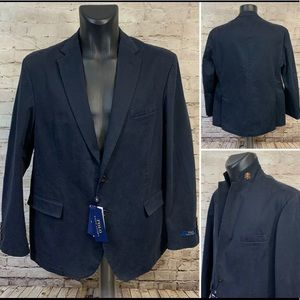 Polo Ralph Lauren Navy Sport Coat Blazer Size 44R